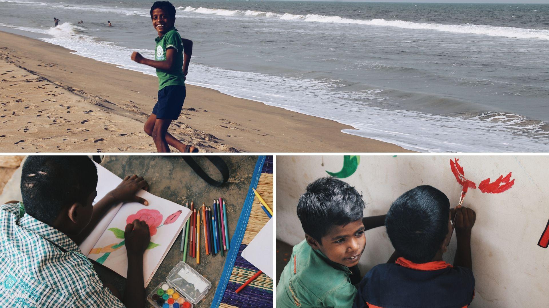 Bambini orfani India